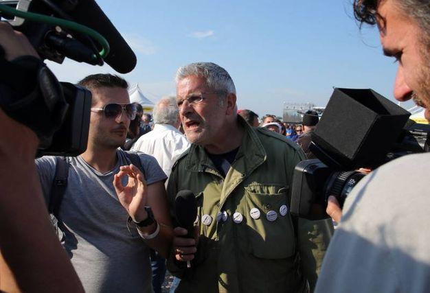 Il giornalista Enrico Lucci (foto Petrangeli)