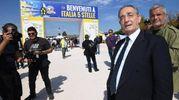 Anche l'avvocato Carlo Taormina alla fiera di Rimini (foto Ansa)