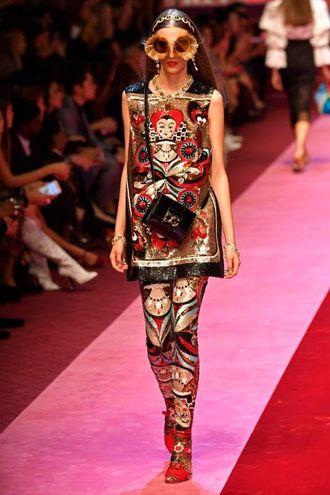 Milano, la sfilata di Dolce & Gabbana (Afp)