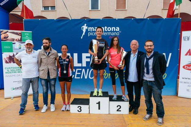 Il podio femminile (foto Zeppilli)