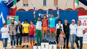 Il podio maschile (foto Zeppilli)