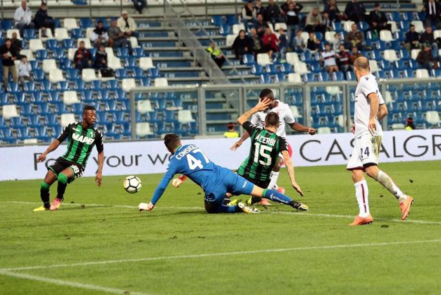 Sassuolo-Bologna 0-1, Okwonkwo (Ansa)