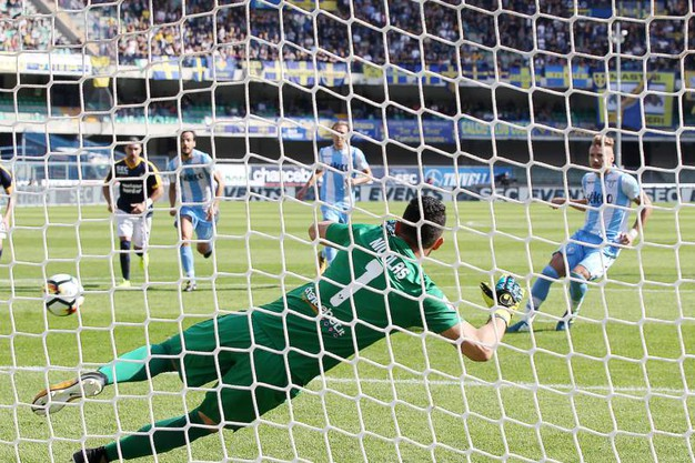 Verona-Lazio 0-1, Immobile (rig.) (LaPresse)