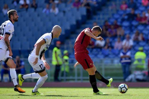 Roma-Udinese 1-0, Dzeko (Lapresse)