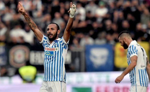 Spal-Napoli 1-0, Schiattarella (Afp)