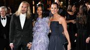 Green Carpet Fashion Awards, a destra Roberta Armani (Newpress)