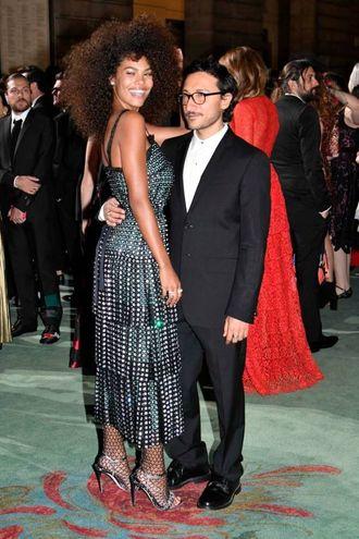 Green Carpet Fashion Awards, Tina Kunakey e Marco De Vincenzo (Newpress)