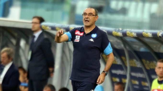 Napoli-Feyenoord, l'allenatore azzurro Maurizio Sarri (Lapresse)