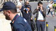 L'arrivo della Polizia Scientifica (Foto Crocchioni)