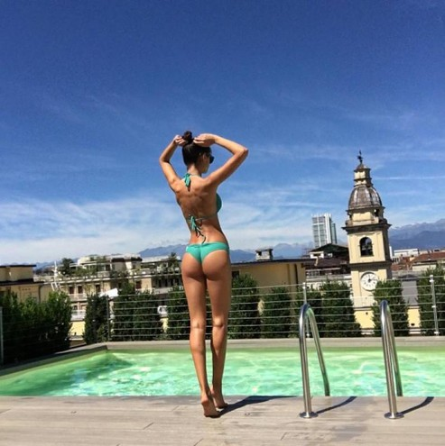 Joana Sanz, compagna di Dani Alves del Psg (Instagram)