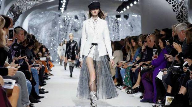 Parigi, la sfilata Dior (LaPresse)