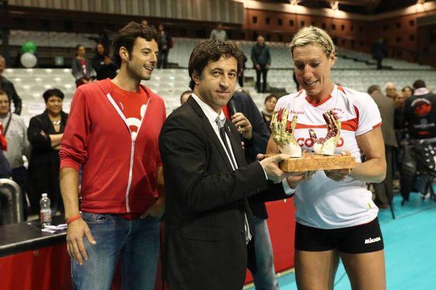 Ravenna, il match amichevole fra Olimpia Teodora-Perugia finito 3-2 (foto Zani)