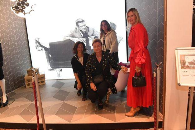 Veronica Veronesi, Leopolda Sassoli  De Bianchi, Rossella Barbaro e Costanza Filicori alla mostra Milleluci (foto Schicchi)