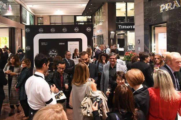 In Galleria Cavour l'inaugurazione della mostra Milleluci (foto Schicchi)