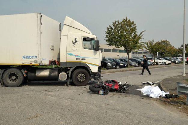 L'incidente mortale a Tribiano (Newpress)