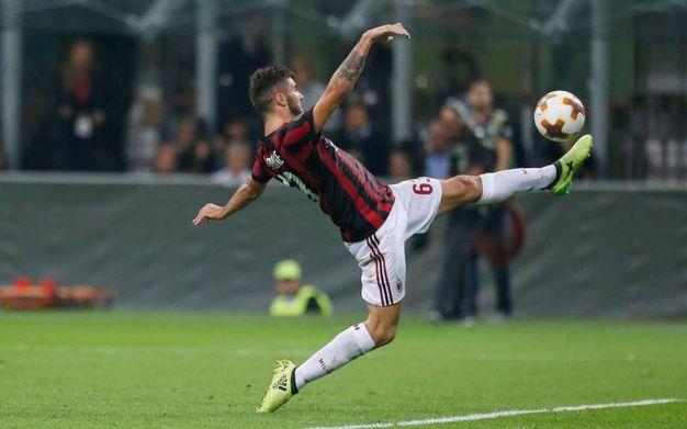 Milan-Rijeka, Cutrone esulta dopo il gol del 3-2 che fa vincere i rossoneri (foto Lapresse)