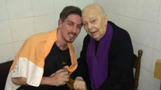 Christian Del Vecchio con padre Amorth