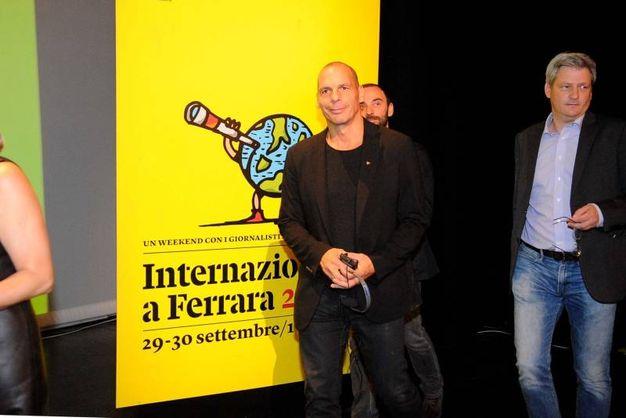 L'arrivo di Yanis Varoufakis (foto Businesspress)