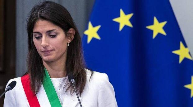 Roma, la sindaca Virginia Raggi (Ansa)