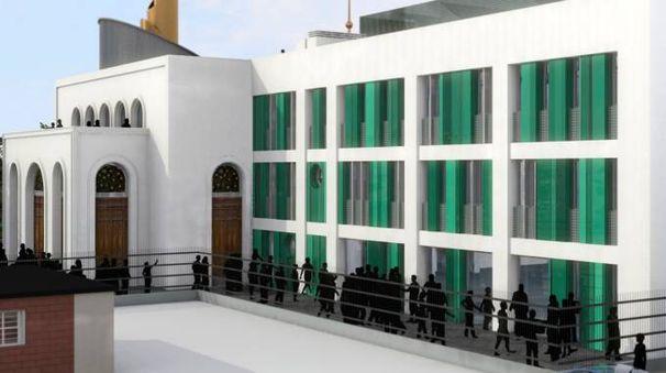 Il progetto prevedeva la costruzione di una moschea da 2.450 metri quadrati