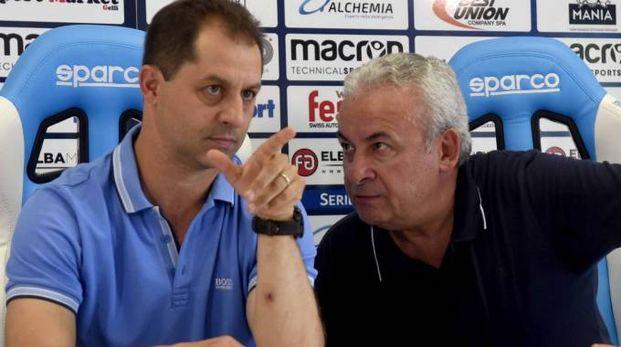 Simone Colombarini con il presidente Mattioli (foto BusinessPress)
