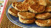 Hamburger di lenticchie in salsa allo zafferano