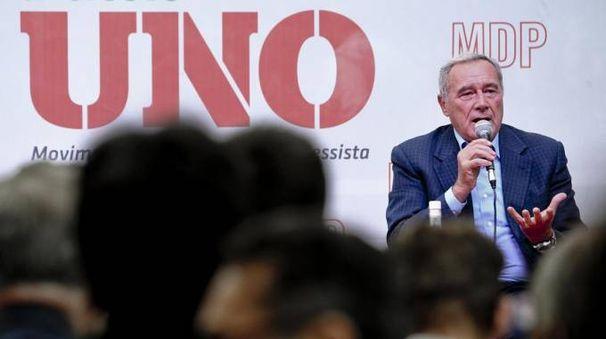 ll presidente del Senato Pietro Grasso alla festa nazionale di Mdp (Ansa)