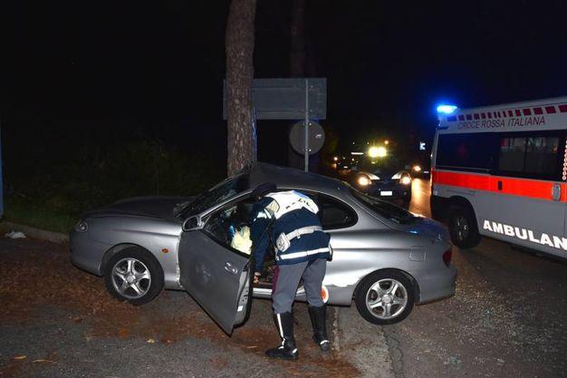 Il ferito è stato ricoverato al Bufalini di Cesena (Fantini)