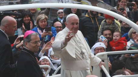 Papa Francesco a Cesena (Foto Ravaglia)