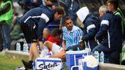 L'infortunio a Borriello (foto LaPresse)