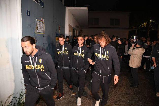 I giocatori del Modena (foto Fiocchi)