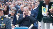Romano Prodi con la moglie Flavia (Schicchi)
