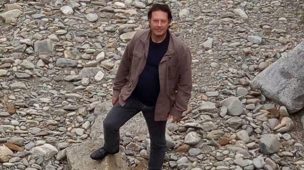 Nicola Faifer nell'alveo in secca (Orlandi)