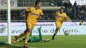 Il gol di Bernardeschi della Juventus 0-1 (Ansa)