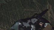L'auto completamente distrutta (Foto Labolognese)