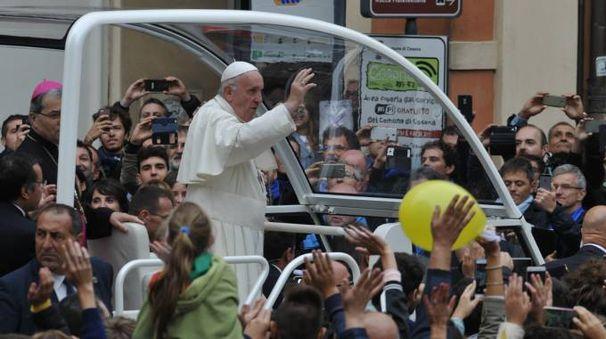 Papa Francesco a Cesena (foto Fantini)