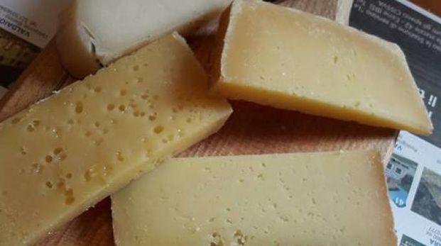 Un tagliere di formaggi tipici delle montagne bresciane