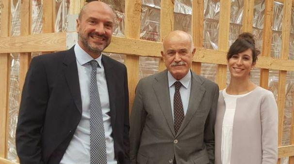 Da sinistra, Nico Pittarello, Sergio Ziveri e la figlia Giulia