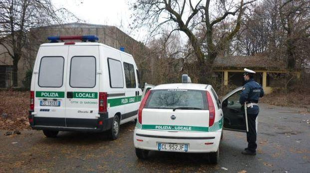 Polizia locale nell'area ex Fraschini
