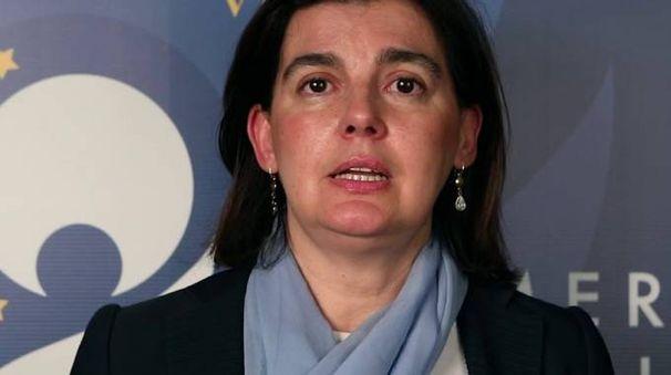 La professoressa Cecilia Fregni, docente di Diritto Tributario. Sotto il suo avvocato, Giulio Garuti