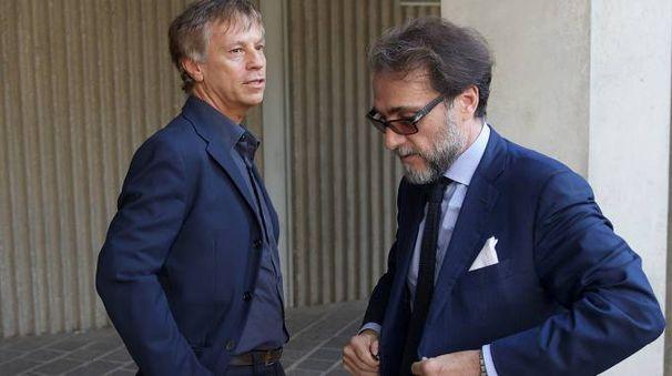 Da sinistra gli avvocati Scudellari (Ballestri) e Trombini (Cagnoni)