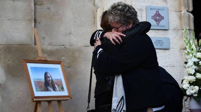 Marsiglia, omaggio a una delle vittime dell'attacco (Afp)