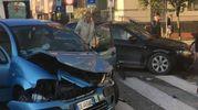 L'incidente in viale dei Partigiani (foto omaggio)