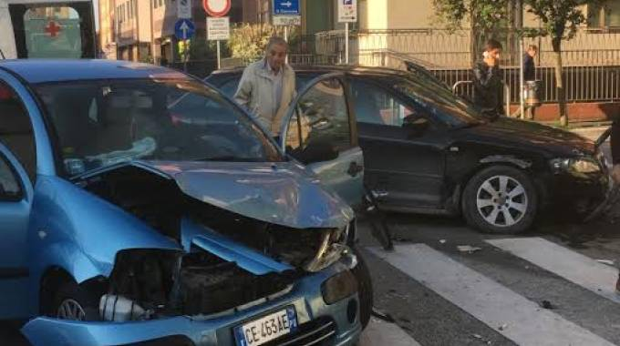 L'incidente in viale dei Partigiani (Fotoprint)