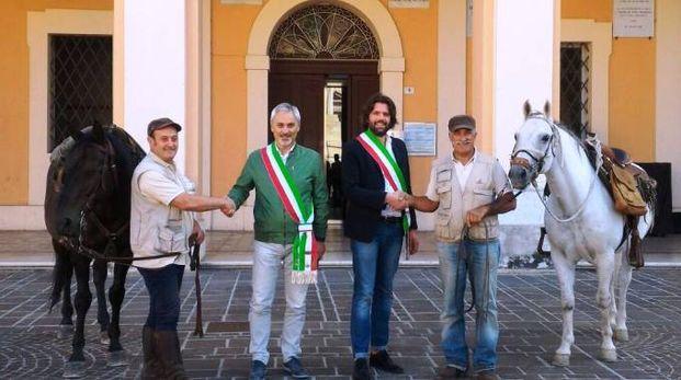 Savignano, Brigliadori e Fiorini accolti dai sindaci Giovannini e Sanulli