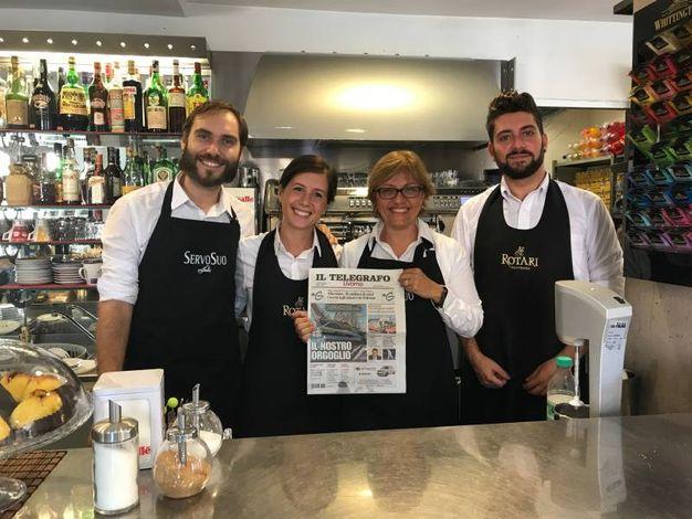 Alessandro Curcio, Emily Falleni, Marina Calvaresi e Simone Di Fiore (Bar Sole via Grande)