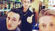 Gianluca Turini con Jordan e Christian (Gran Caffé La Differenza, piazza Cavallotti)