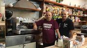 Romolo Mangone e Antonio Santuoro (Caffé della Villa, viale della Libertà)