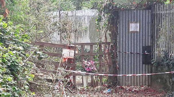 L'orto in cui è stato trovato il corpo di Marilena