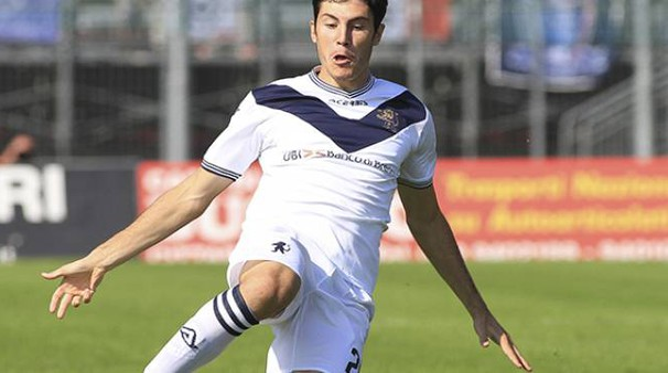 Dimitri Bisoli, autore del gol del pareggio del Brescia, il terzo per il centrocampista